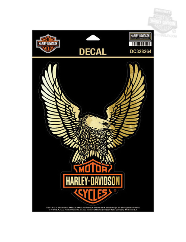 Harley-Davidson® Upwing Eagle with B&S Gold Finish Large Decal