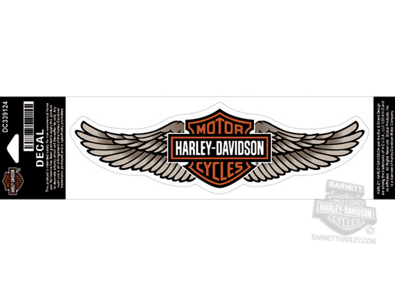 Harley-Davidson® Tan Straight Wing B&S Large Decal