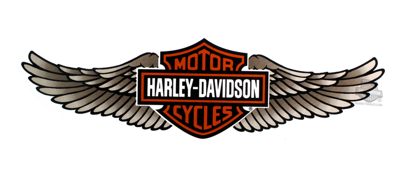 Harley-Davidson® Tan Straight Wing B&S 3X Decal