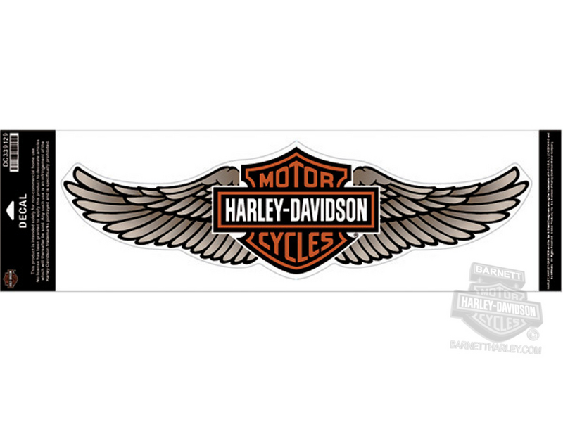 Harley-Davidson® Tan Straight Wing B&S 5X Decal
