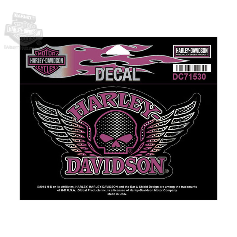 Harley-Davidson® Willie G Skull Wings Medium Decal