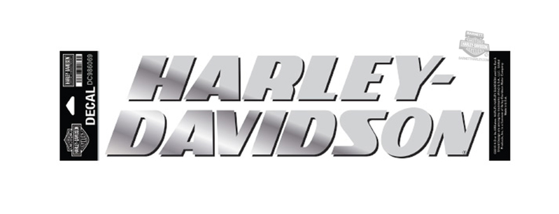 Harley-Davidson® Strong H-D Name Chrome Thermal Die Cut Decal