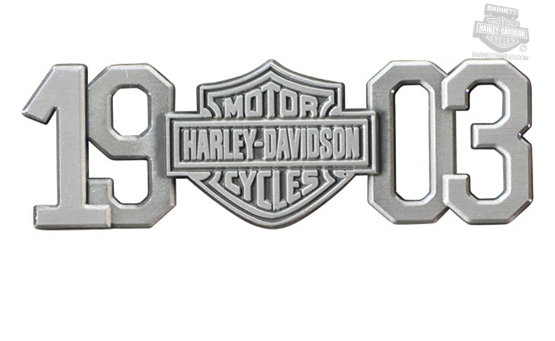 Harley-Davidson® Mens 1903 B&S Antique Silver Magnet