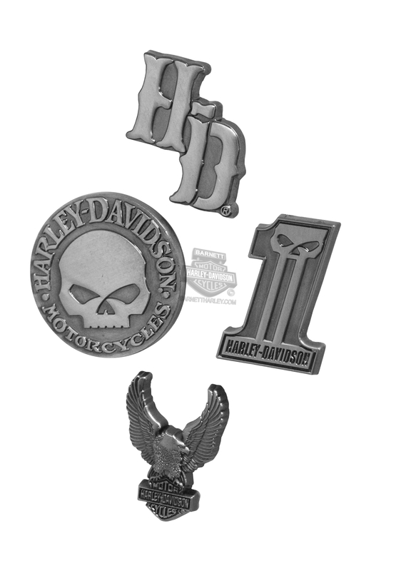Harley-Davidson® Dark Custom Graphics 3D Die Cast Set of 4 Magnets