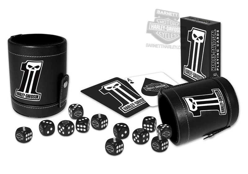Harley-Davidson® Dark Custom #1 Skull Dice Cup Set