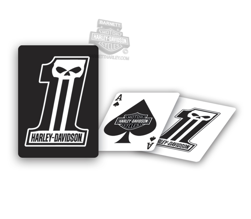 Harley-Davidson® Dark Custom #1 Skull Playing Cards