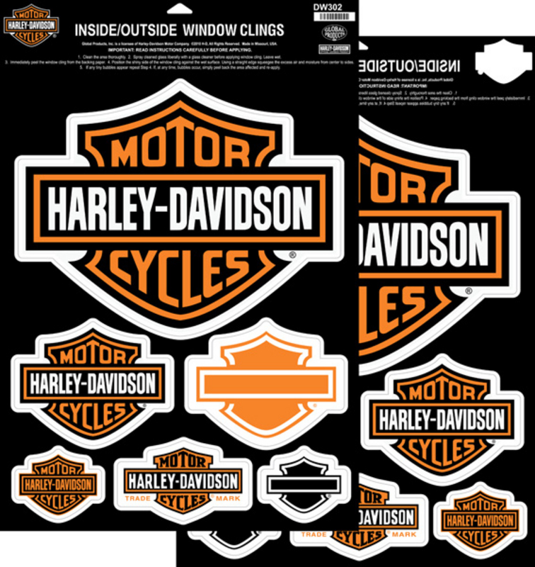 Harley-Davidson® Window Cling B&S Decal