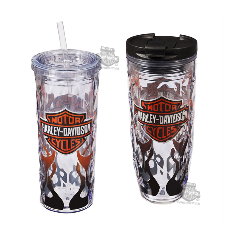 Harley-Davidson® B&S with Flames Hot-N-Cold Tumbler Set