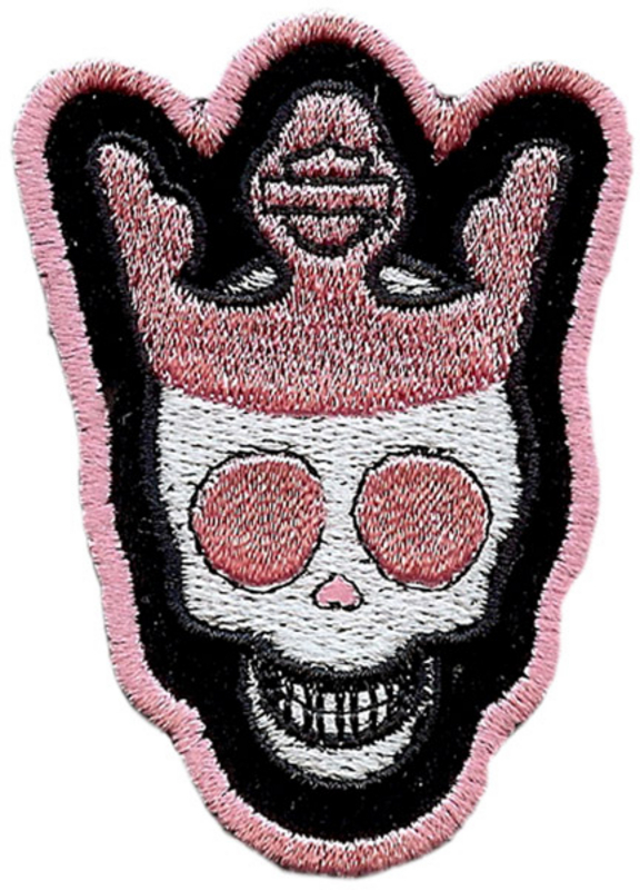** 2 for $5 ** Harley-Davidson® Girls Skully Crown Xs Pink Patch