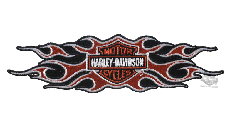 Harley-Davidson® B&S Flames Large Patch