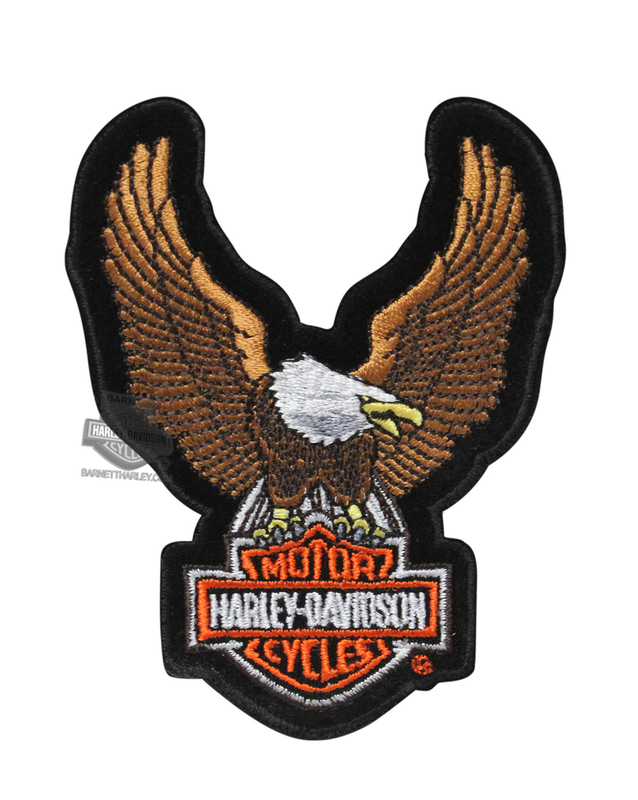Harley-Davidson® Brown Upwing Eagle Small Patch