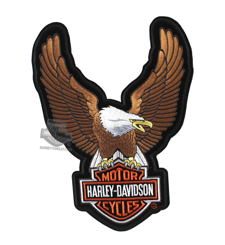 Harley-Davidson® Brown Upwing Eagle Large Patch