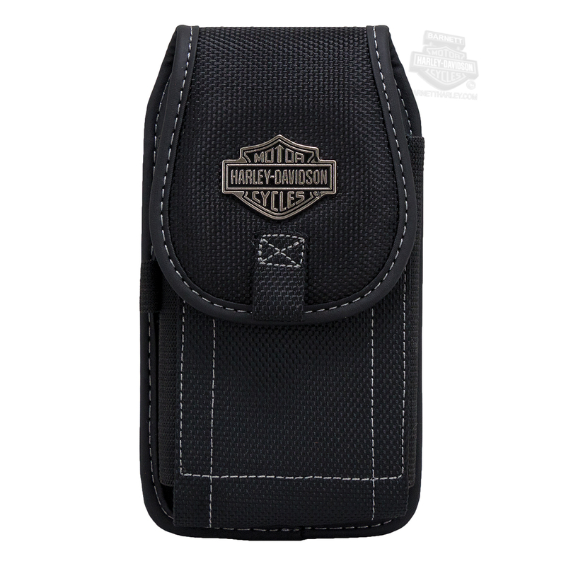 Harley-Davidson® B&S Logo Universal Vertical XL Black Phone Case