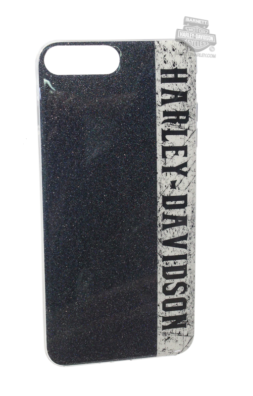 Harley-Davidson® Womens iPhone 8 Plus Glitter Graphic TPU Flexible Phone Shell