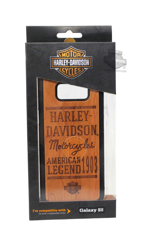 Harley-Davidson® Galaxy S8 Wood Grain Etched Design Phone Shell