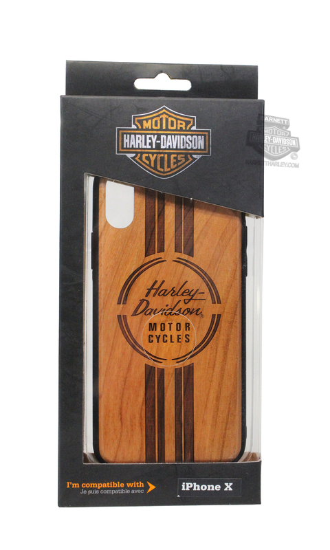 Harley-Davidson® iPhone X Wood Grain Etched Design Phone Shell