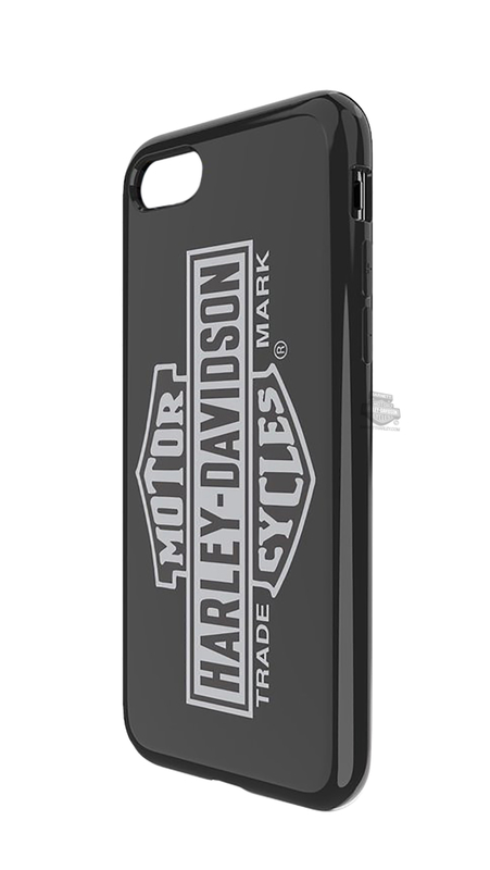 Harley-Davidson® Venture Trademark B&S Vertical iPhone 7/8 Black Phone Case