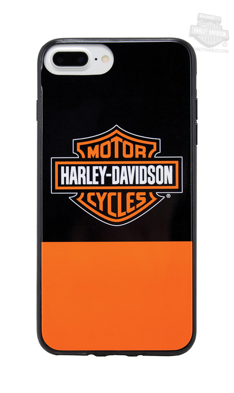 Harley-Davidson® Mens Color Block B&S iPhone 7 Orange Phone Shell
