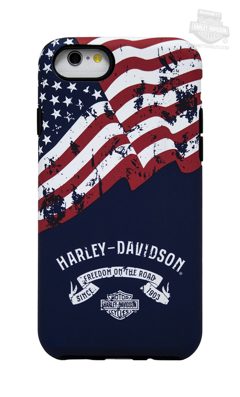 Harley-Davidson® Mens Americana 2PC Shock Absorbing Black Phone Shell