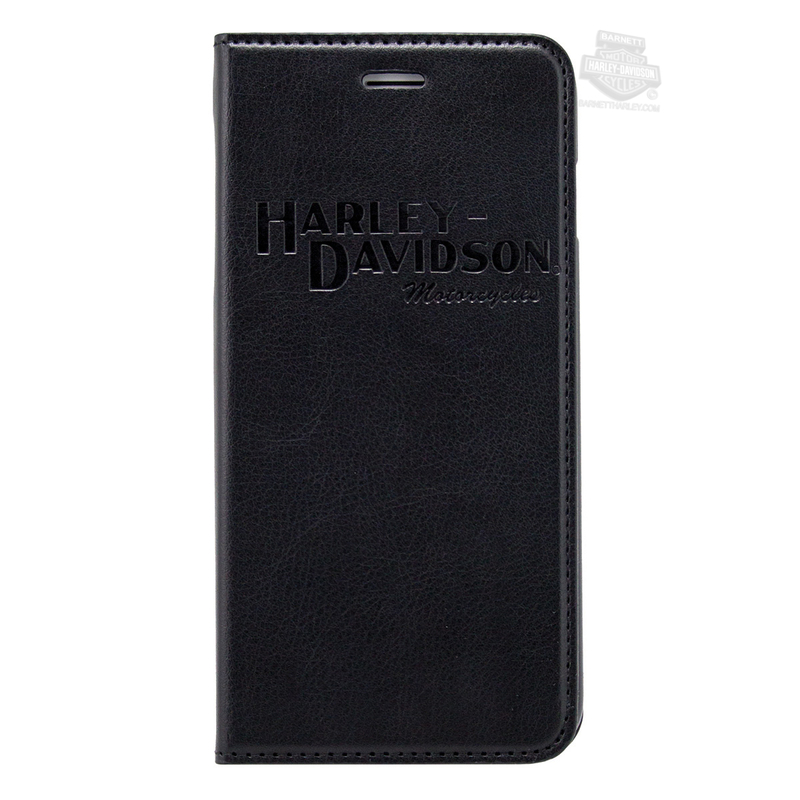 Harley-Davidson® Mens H-D Name iPhone Black Phone Folio