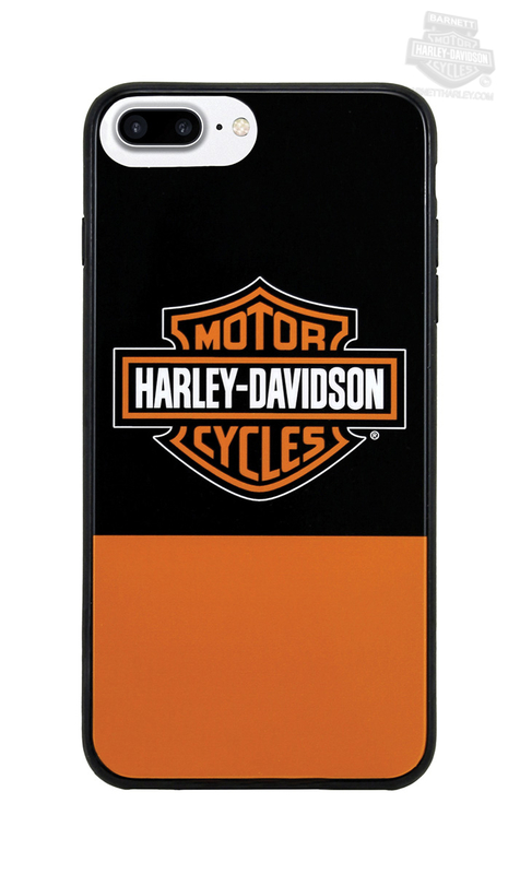 Harley-Davidson® Mens Color Block B&S iPhone 7 Plus Orange Phone Shell