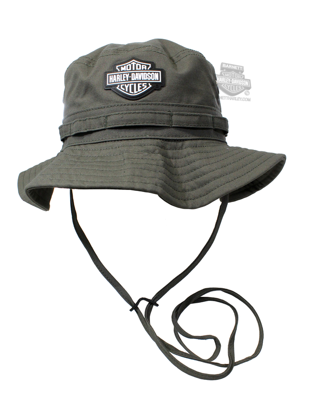 1bcdd1a00b6 Harley-Davidson® Mens B S Rubber Patch Twill Green Cotton Boonie Hat