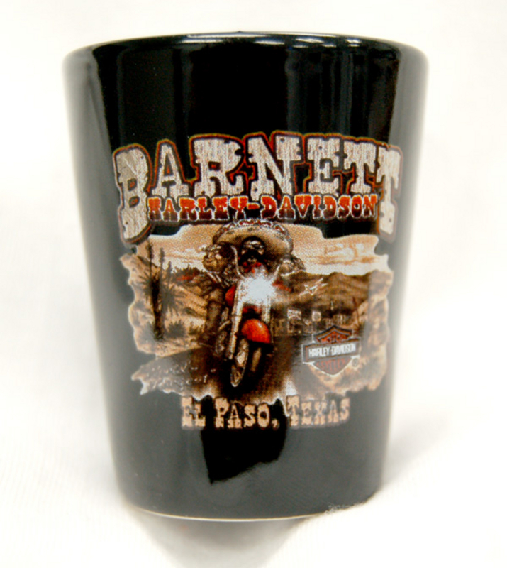 Barnett H-D Mexican Bandit Short Black Shotglass