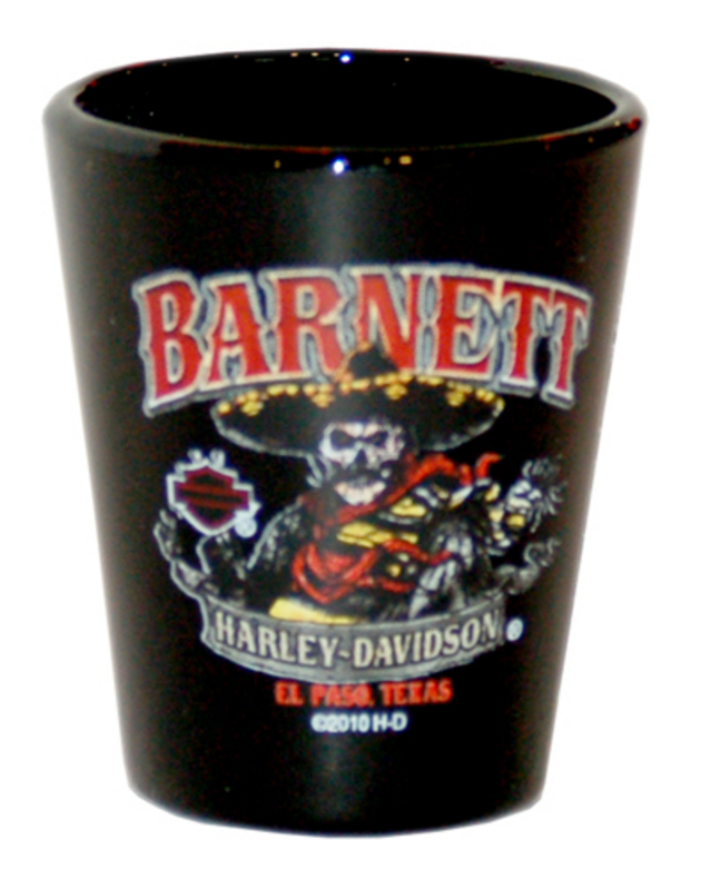 Harley-Davidson® Barnett H-D Muerte Black Short Shot Glass