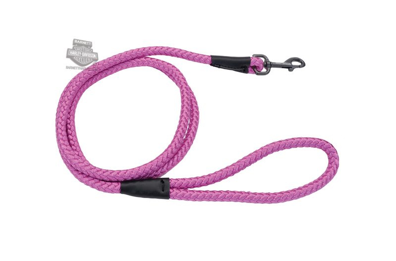 Harley-Davidson® Orchid Rope Nylon Pink Pet Leash 6'