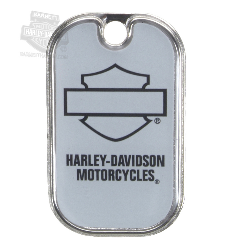 Harley-Davidson® Open B&S Logo Military Grey Pet ID Tag