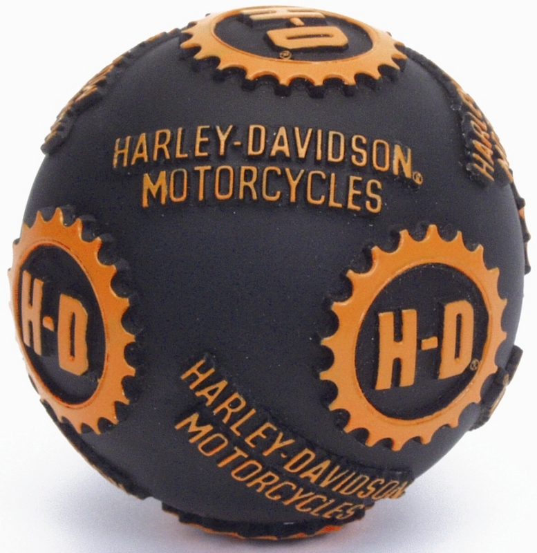 Harley-Davidson® Pet Toy Ball Black/Orange