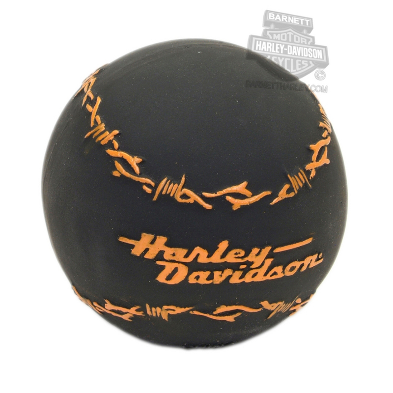 Harley-Davidson® Pet Toy Barbed Wire Latex Ball Black
