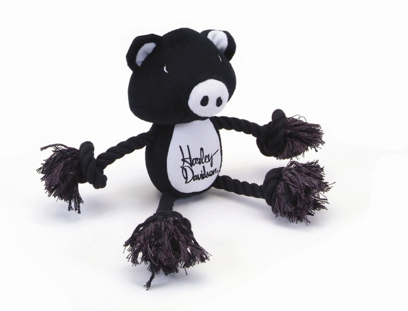 Harley-Davidson® Pet Plush Toy Pig Rope Tug