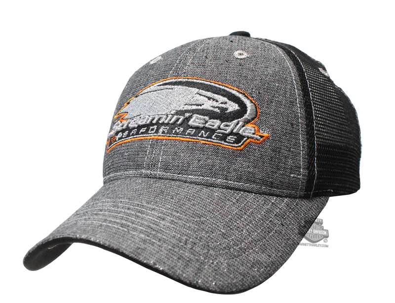 Harley-Davidson® Womens Screamin Eagle Shimmer Mesh Grey Baseball Cap