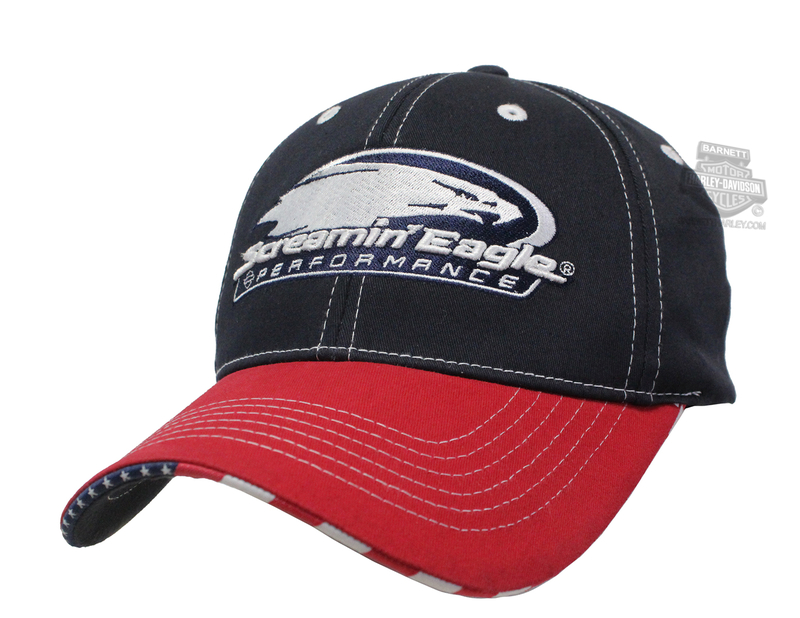 Harley-Davidson® Mens Screamin Eagle Patriot Blue Stretch Fit Baseball Cap