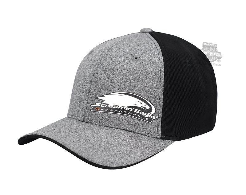 ** SIZE L/XL ONLY ** Harley-Davidson® Mens Screamin Eagle Top Fuel Grey Stretch Fit Baseball Cap