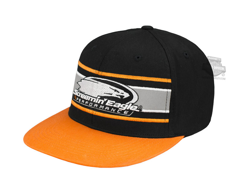 973c0d883b3 Harley-Davidson® Mens Screamin Eagle Eliminator Flat Bill Black Stretch Fit Baseball  Cap