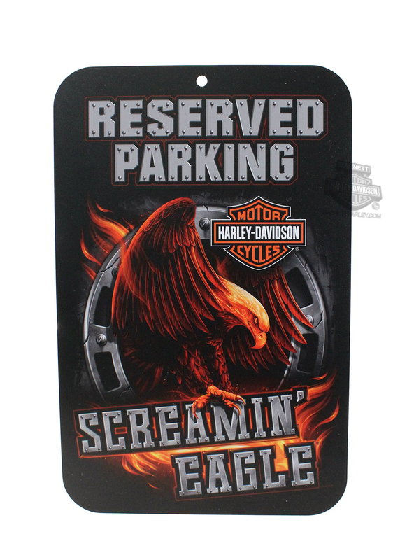 Harley-Davidson® Screamin Eagle Fiery Eagle Parking Sign