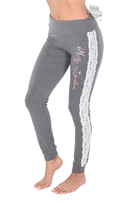 Harley-Davidson® Womens Love My Harley Lace Sleep Grey Casual Pants by FCP Brands, Inc.