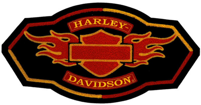 ** 2 for $5 ** Harley-Davidson® Flame Chenille 5X Patch *2DY*