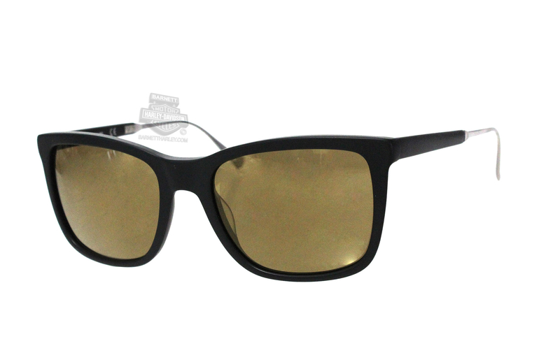 Harley-Davidson® HD203002G Matte Black Frame Brown Mirror Lens Sunglasses by Marcolin Eyewear