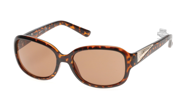 Harley-Davidson® HD5033S52E Tortoise Frame Brown Lens Sunglasses by Marcolin Eyewear