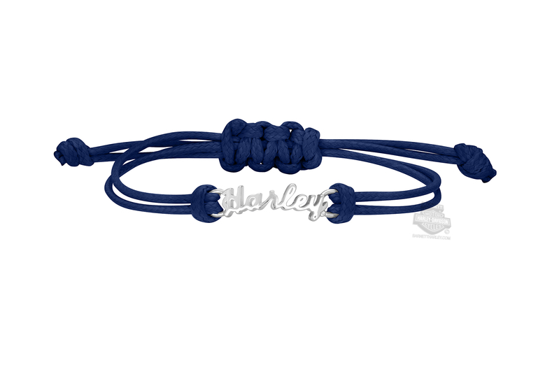 486576f61c5bc Harley-Davidson® Womens Harley Blue Cord Bracelet by Mod Jewelry®