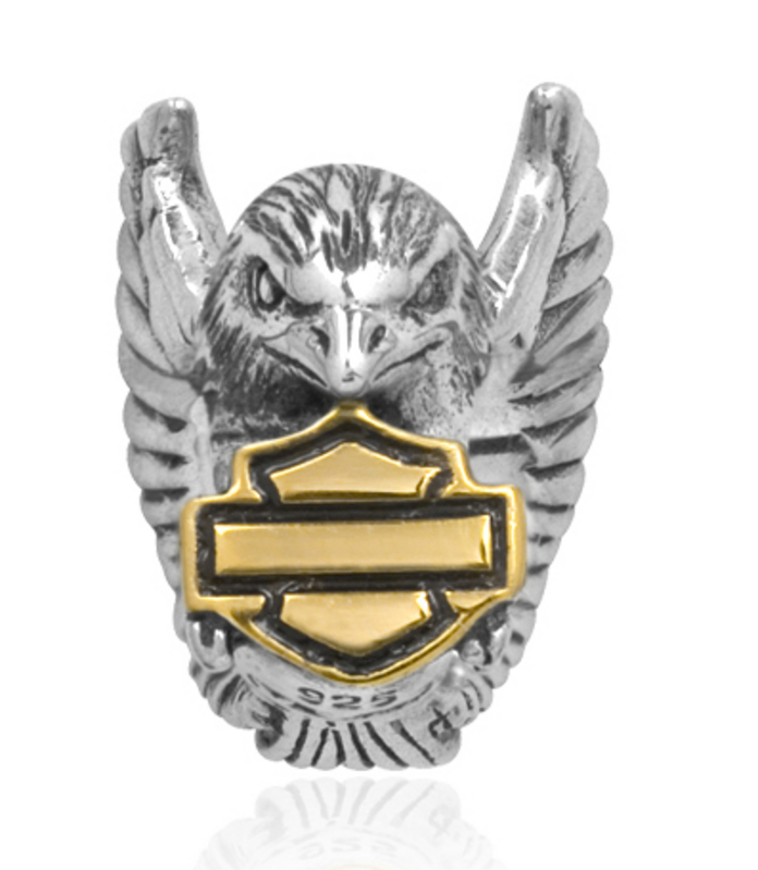 Harley-Davidson® .925 Silver Eagle Gold Plated B&S Ride Womens Bead