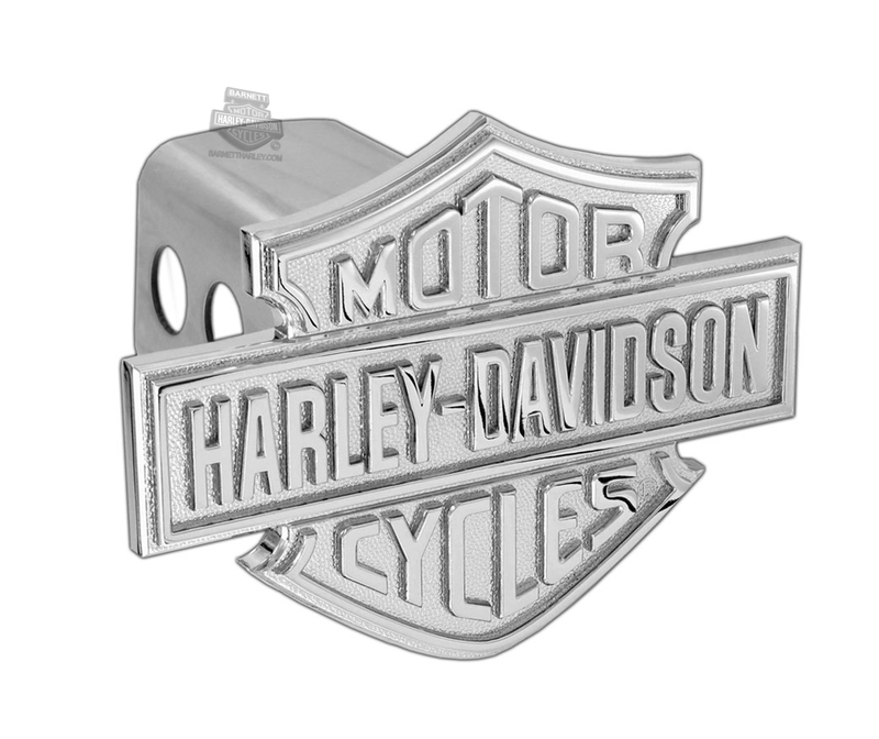 Harley-Davidson® Hitch Cover Raised B&S