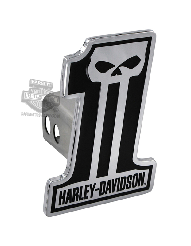 Harley-Davidson® Hitch Cover #1 Logo Dark Custom Skull