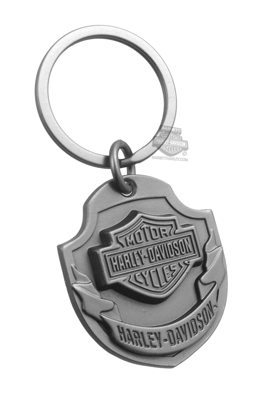 Harley-Davidson® Mens 3D B&S with Ribbon Keychain