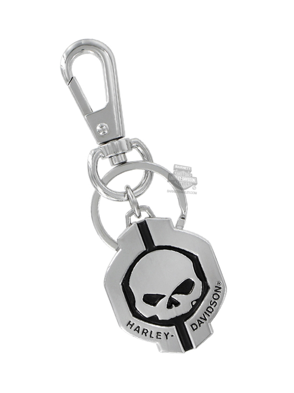 Harley-Davidson® Mens Willie G Skull with B&S 2-Sided Keychain