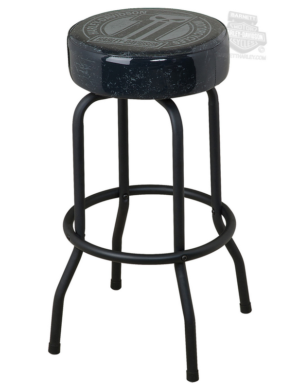 Harley Davidson® #1 Skull Dark Custom Bar Stool