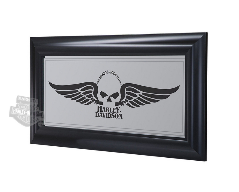 Harley-Davidson® Winged Willie G Skull Mirror